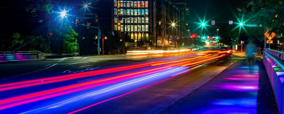 Paint Branch Parkway at night